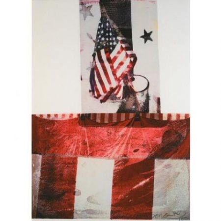 Lithographie Rauschenberg - Edward Kennedy Campaign