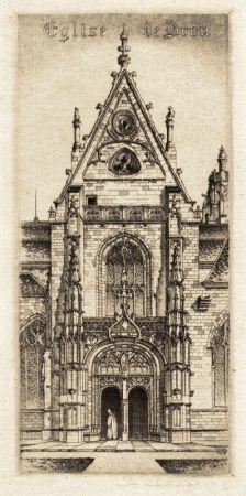 Gravure Arms - Eglise de Notre Dame, Bourg-En-Bresses