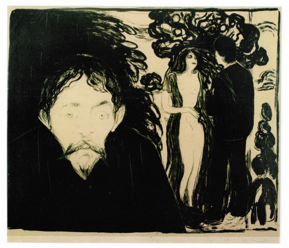 Lithographie Munch - Eifersucht (Jealousy)