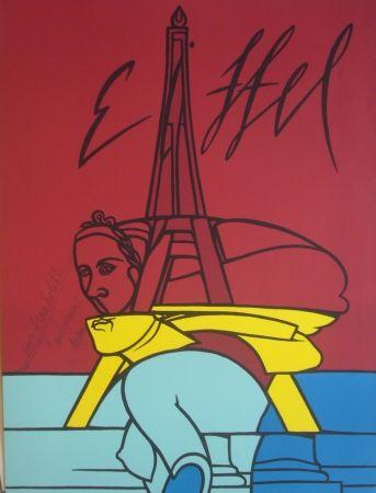 Lithographie Adami - Eiffel