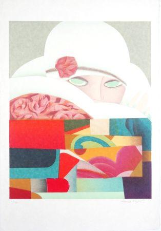 Lithographie Papart - Elégante