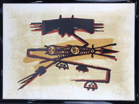 Lithographie Lam - El último viaje del buque fantasma