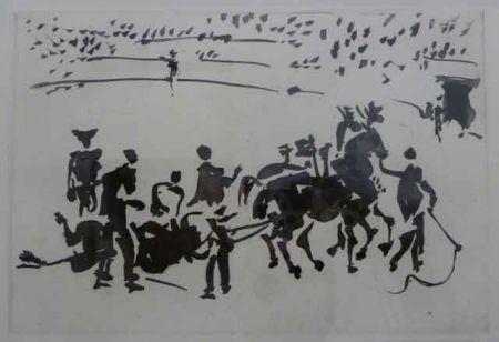 Aquatinte Picasso - EL ARRASTRE