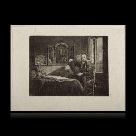 Gravure Rembrandt - El boticario Abraham Francen