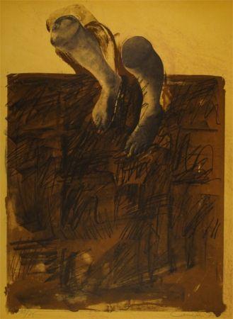 Lithographie Canogar - El caminante