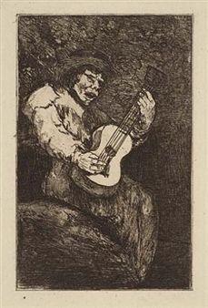 Eau-Forte Et Aquatinte Goya - El cantor ciego / The Blind Singer
