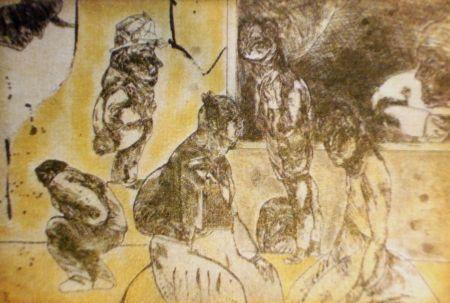 Eau-Forte Et Aquatinte Cuevas - El cuarto amarillo