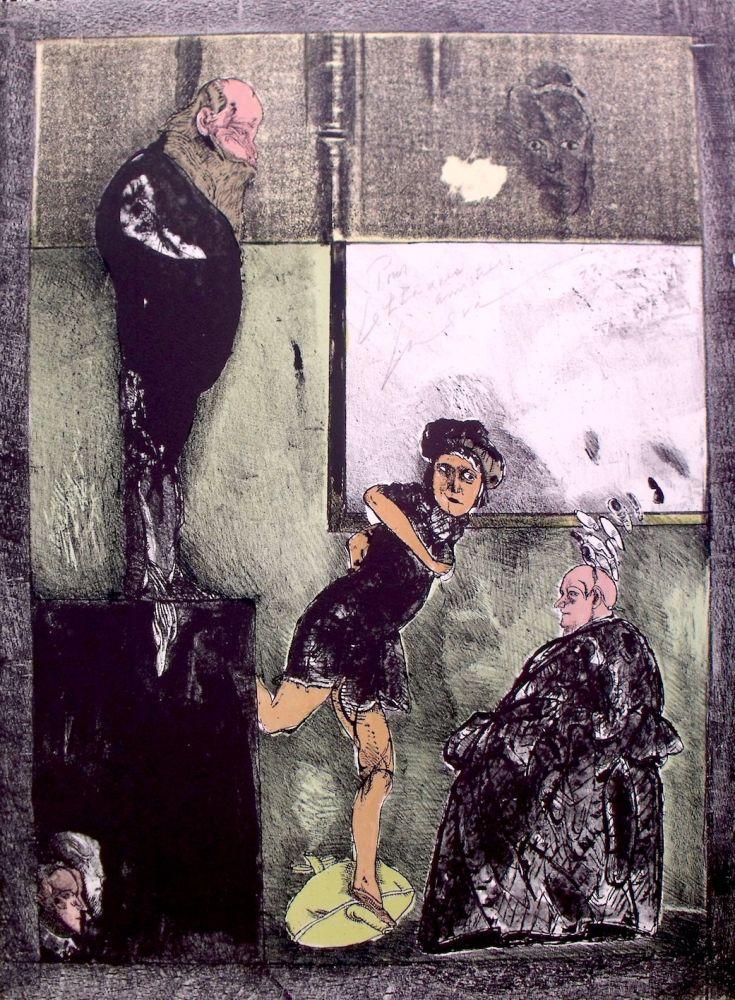 Lithographie Cuevas - El espejo