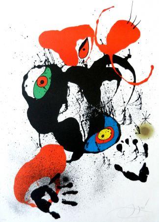 Lithographie Miró - El fogainer