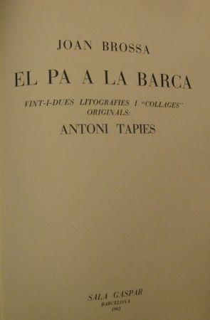 Livre Illustré Tàpies - El Pa à la Barca