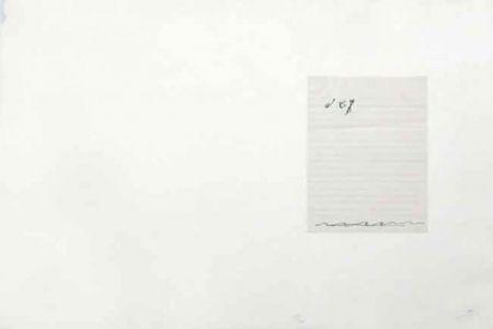 Lithographie Tàpies - El Pa  A la Barca