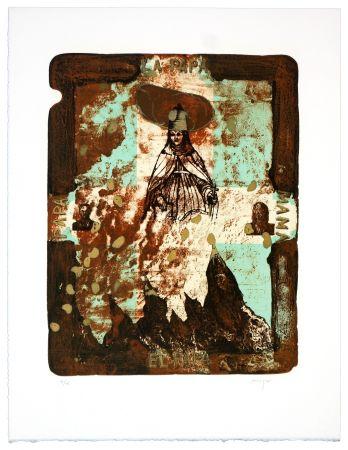Lithographie Aritza - El papa, la papa, papa, mama ! (Papesse Jeanne)