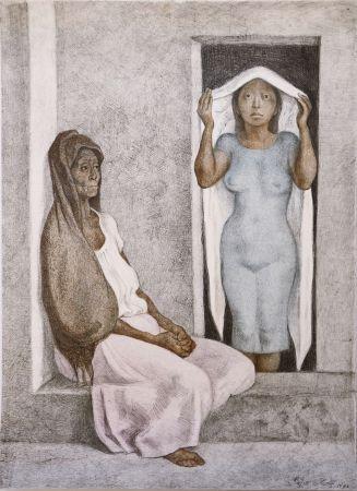 Lithographie Zuniga - EL REBOZO BLANCO