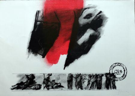Lithographie Balmes - El rojo gota a gota va naciendo