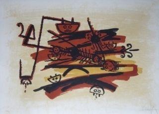 Lithographie Lam - El ultimo viaje del buque fantasma