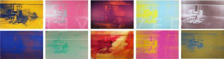 Sérigraphie Warhol - Electric Chair Complete Portfolio