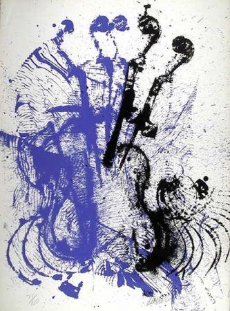 Sérigraphie Arman - Electric Concerto