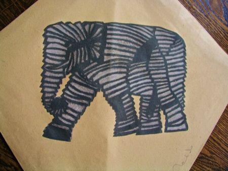 Sérigraphie Toledo - Elephant kite II