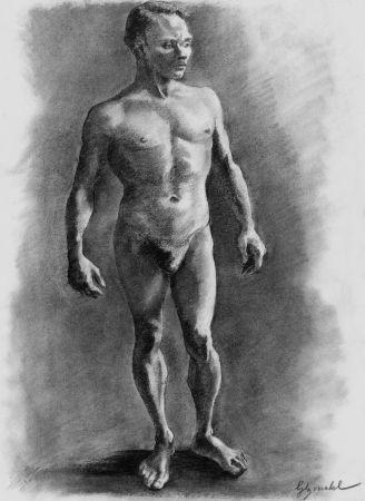 Lithographie Bonabel - ELIANE BONABEL / Louis-Ferdinand Céline - Litographie Originale / Original Lithograph - Nu Masculin / Male Nude - 1938
