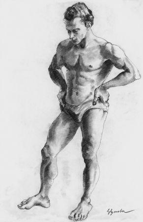 Lithographie Bonabel - ELIANE BONABEL / Louis-FerdinandCéline - Nu Masculin / Male Nude  - 1938