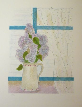 Lithographie Girona - ELS LILAS