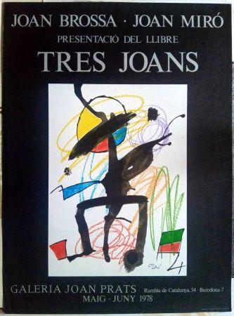 Affiche Miró - Els tres Joans  - Prats - 1978
