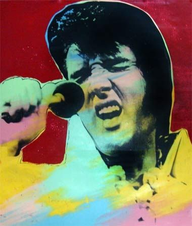 Sérigraphie Kaufman - Elvis II