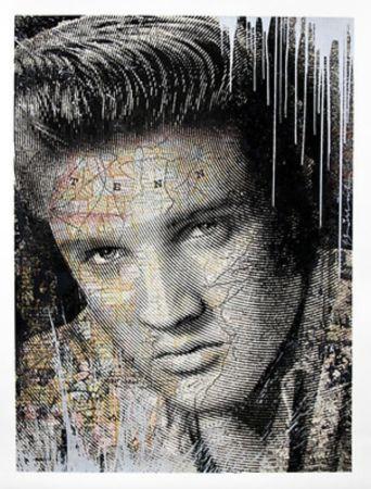 Sérigraphie Mr Brainwash - Elvis – King of Rock Silver