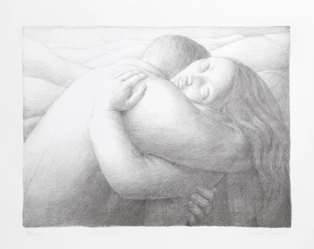 Lithographie Tooker - Embrace