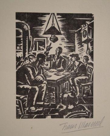 Gravure Sur Bois Masereel - Emile Zola, Germinal