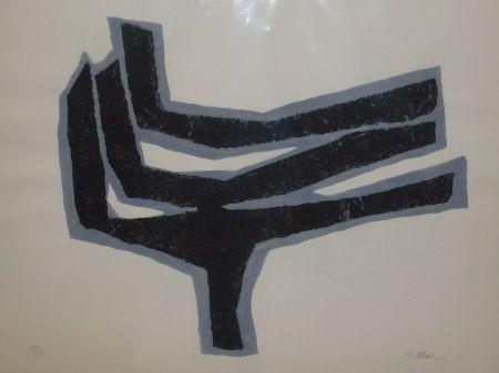 Lithographie Ubac - Empeinte ardoise