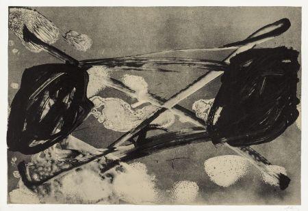 Lithographie Tàpies - Empreinte barrée