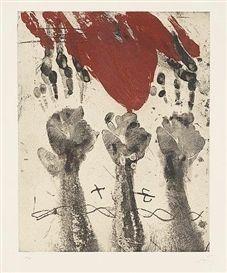 Gravure Tàpies - Empreintes de mains