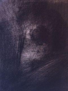 Gravure Leroy  - En Hauteur sur un lit sombre en diagonale