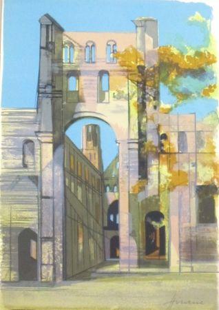 Lithographie Hilaire - En normandie