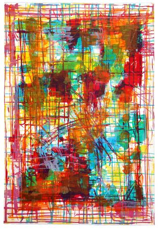 Lithographie Huftier - En pastel