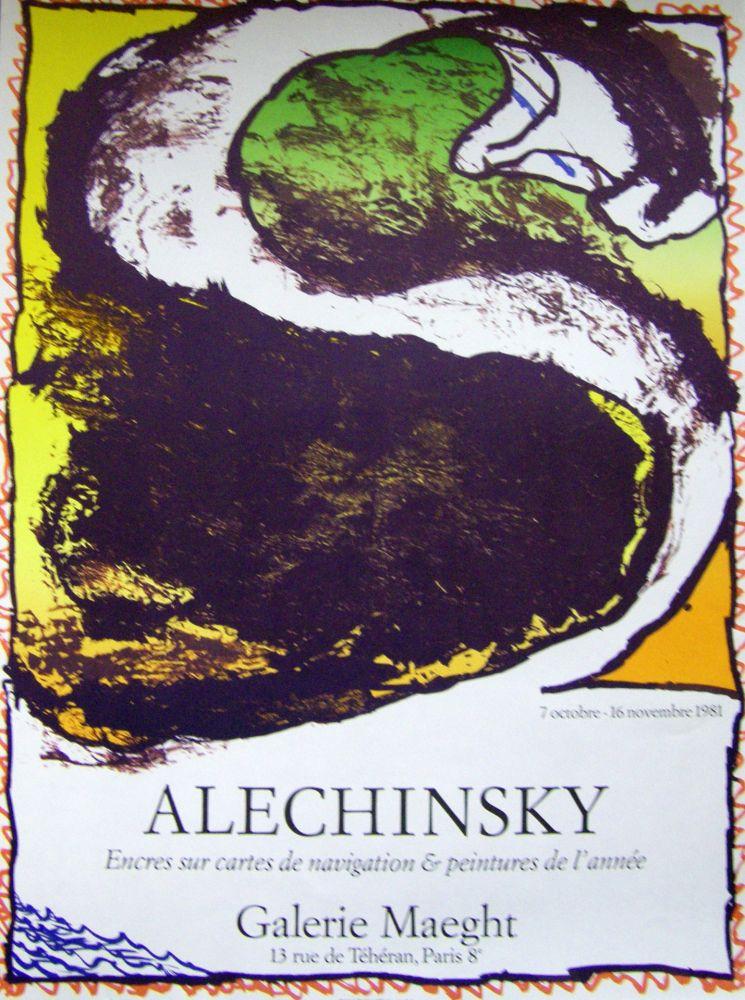 Affiche Alechinsky - Encres sur carte