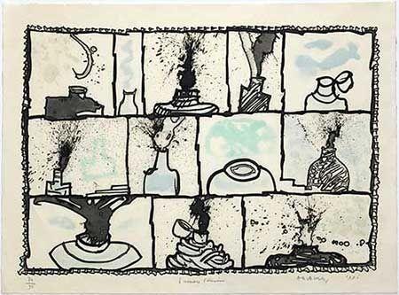 Gravure Alechinsky - Encriers témoins