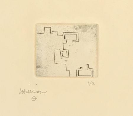 Gravure Chillida - Enda VII