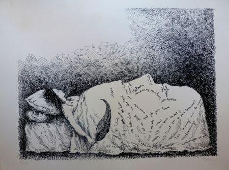 Lithographie Topor - Endormie