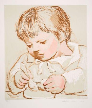 Lithographie Picasso - Enfant Deieunant