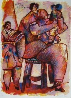 Lithographie Tobiasse - Enfants venus du palais de la mémoire