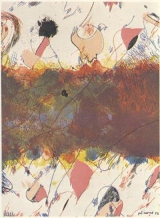 Lithographie Guinovart - Entre Dues Roses