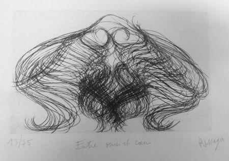 Gravure Messagier - Entre ouïes et coeur