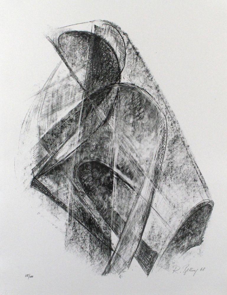 Lithographie Belling - Entwurf für eine Plastik