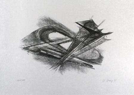 Lithographie Belling - Entwurf für Metallplatten und Draht I