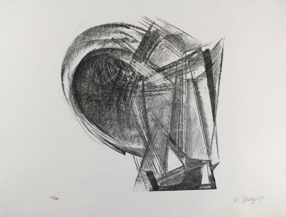 Lithographie Belling - Entwurf für Metallplatten und Draht II