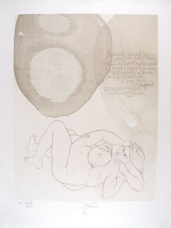 Lithographie Trémois - Envol VII
