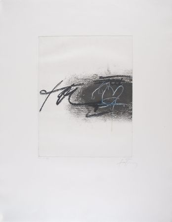 Eau-Forte Tapies - EQUATION II