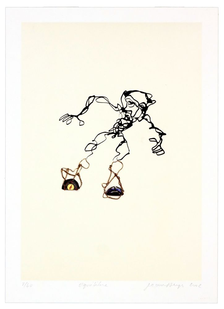 Lithographie Phillipe - Equilibre